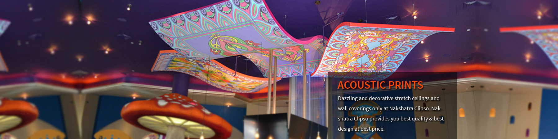 Acoustic Printed Stretch Ceilings and Wall Coverings